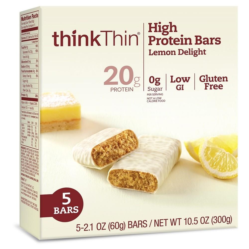 thinkthin High Protein Bar Lemon Delight - 5ct