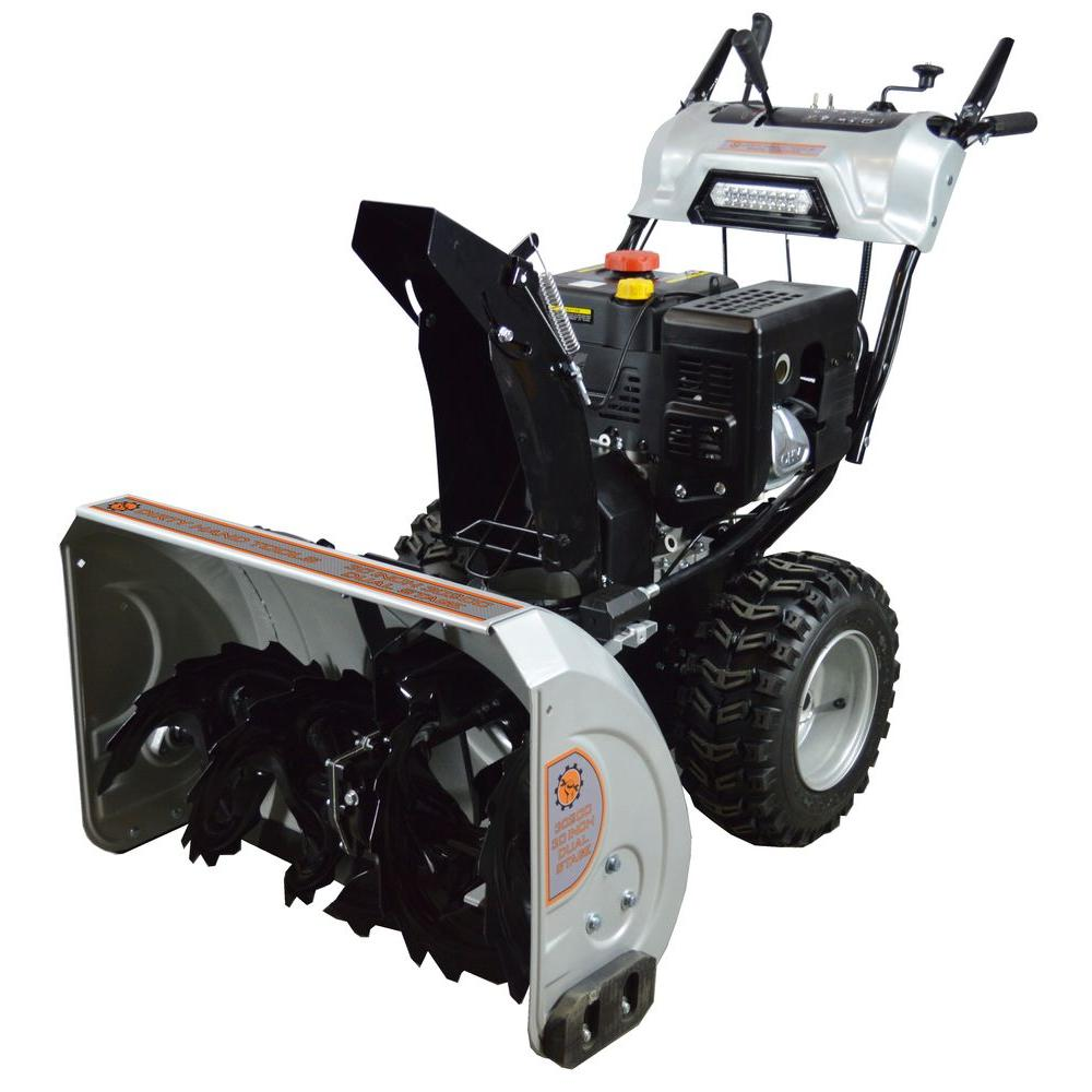 Dirty Hand Tools DHT 30 in. Dual Stage Gas Snow Blower with 302cc Electric Start Engine