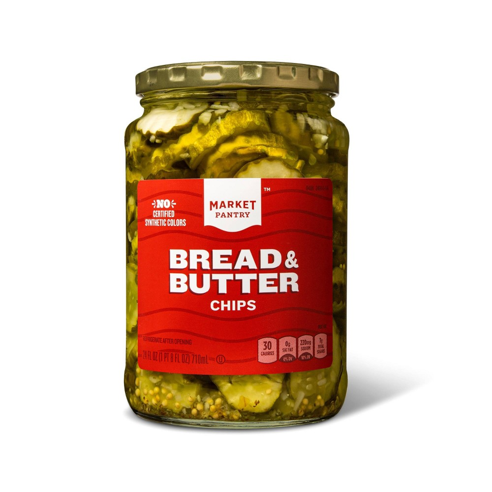 Bread and Butter Chips - 24oz - Market Pantry