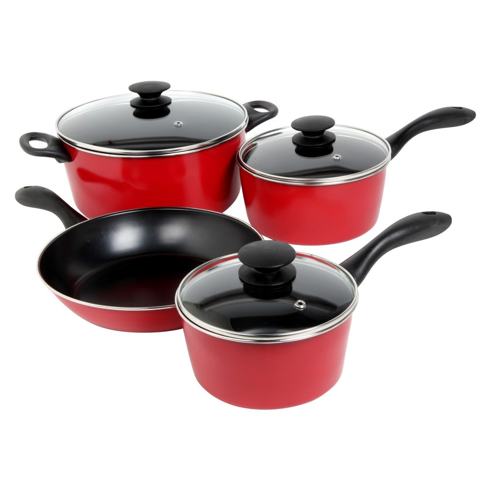 Sunbeam Armington 7pc Carbon Steel Cookware Set Red