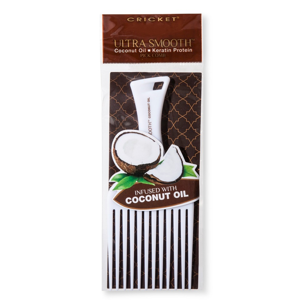 Ultra Smooth Coconut Infused Pick Comb, White
