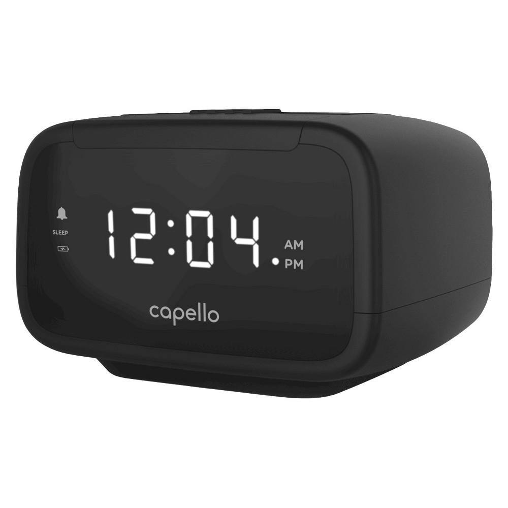Capello CR15 Digital AM & FM Alarm Clock Radio - Black