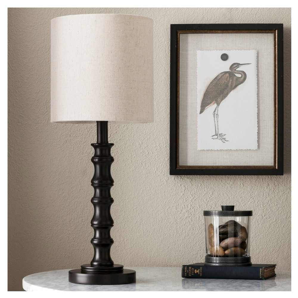 Shiloh Table Lamp Espresso (Lamp Only) - Threshold, Yellow