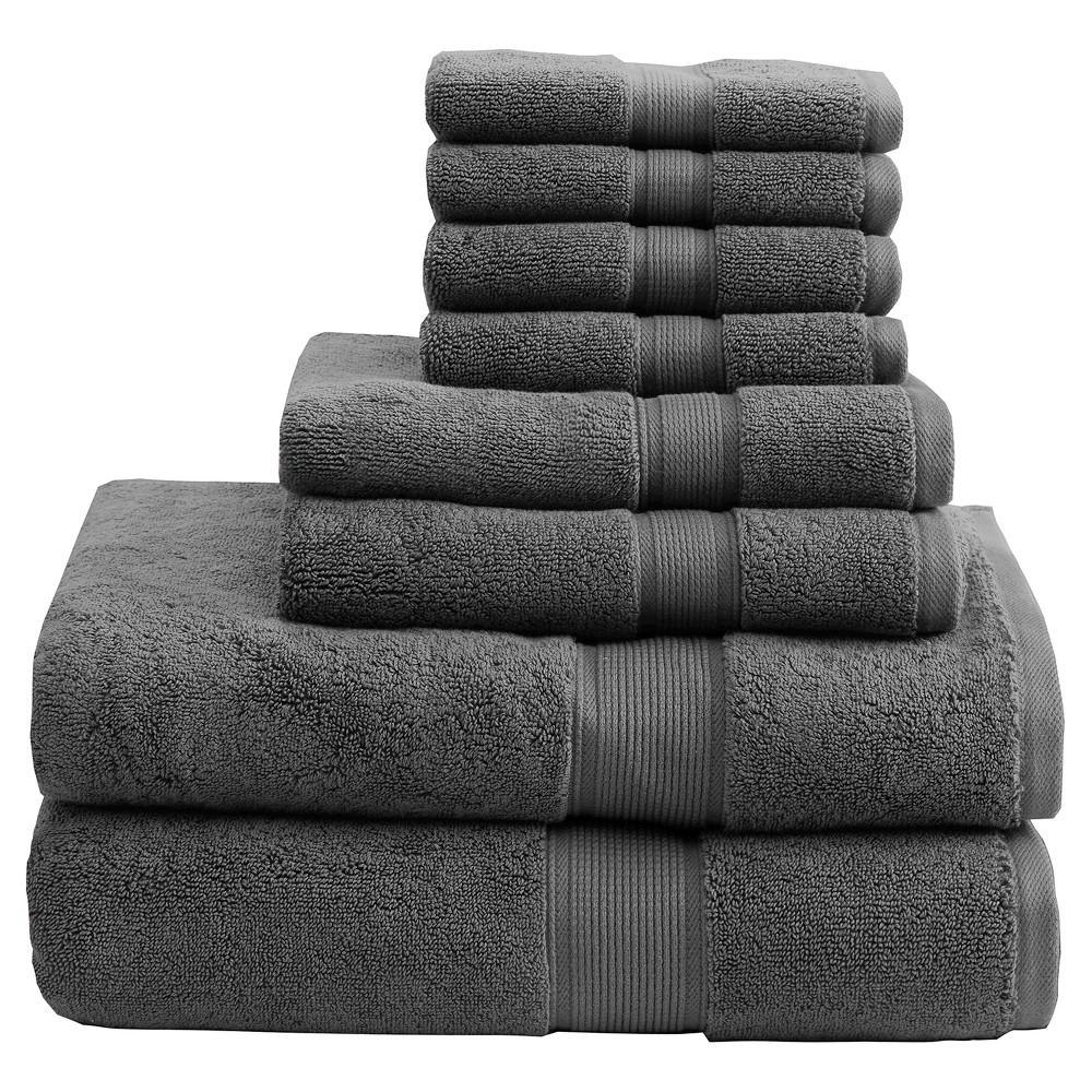 Bath Towel Set- Gray, Bath Towel and Washcloth Sets