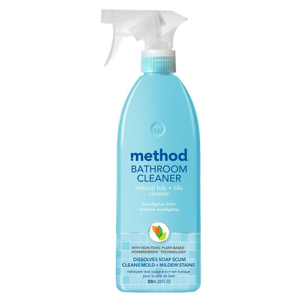 Method Cleaning Products Bathroom Cleaner Tub + Tile Eucalyptus Mint Spray Bottle 28 fl oz