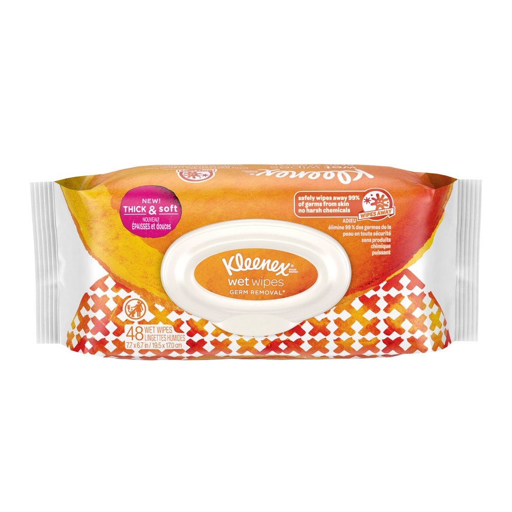 Kleenex Germ Removal Wet Wipes - 48ct, White
