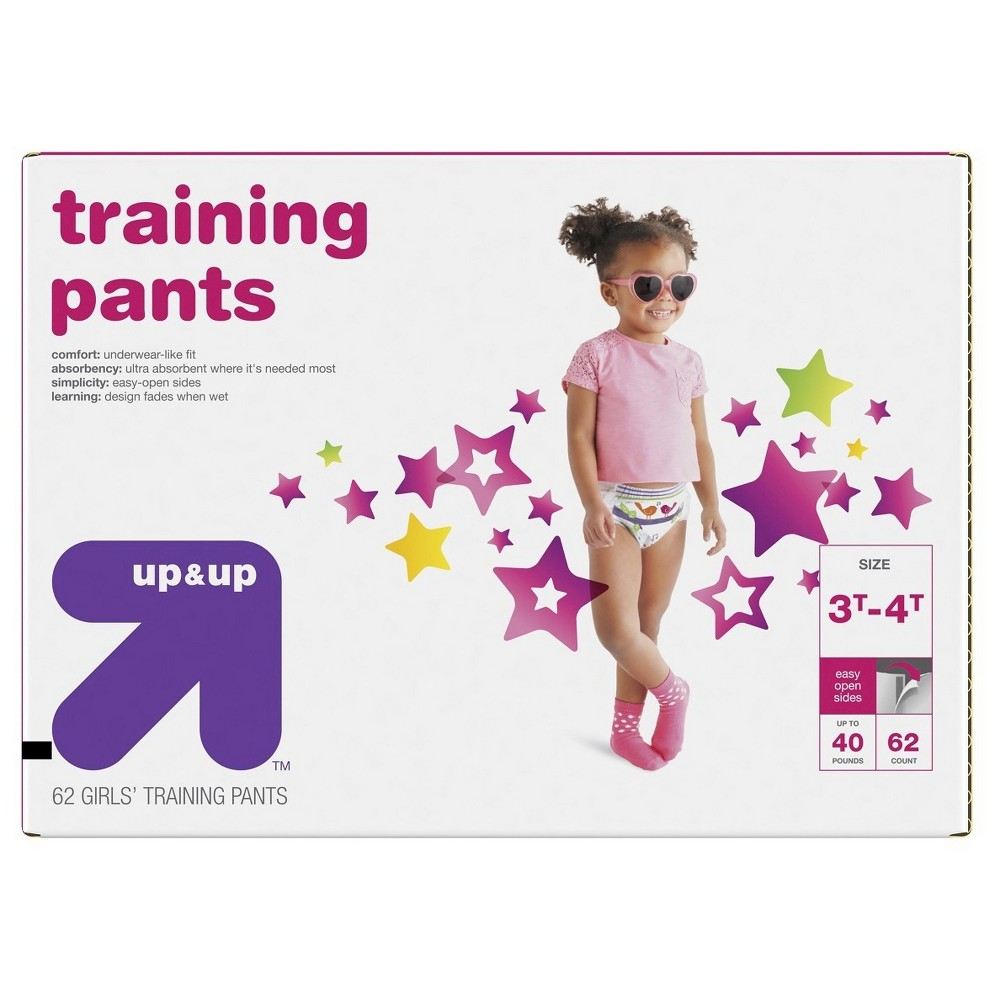 Training Pants for Girls - 3T-4T (62ct) - Up&Up