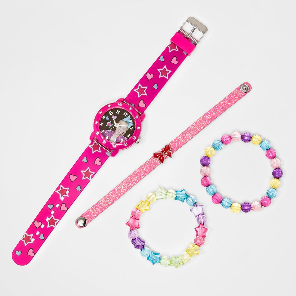 Kids' Nickelodeon Jojo Watch and Bracelet Set - Fuchsia, Girl's