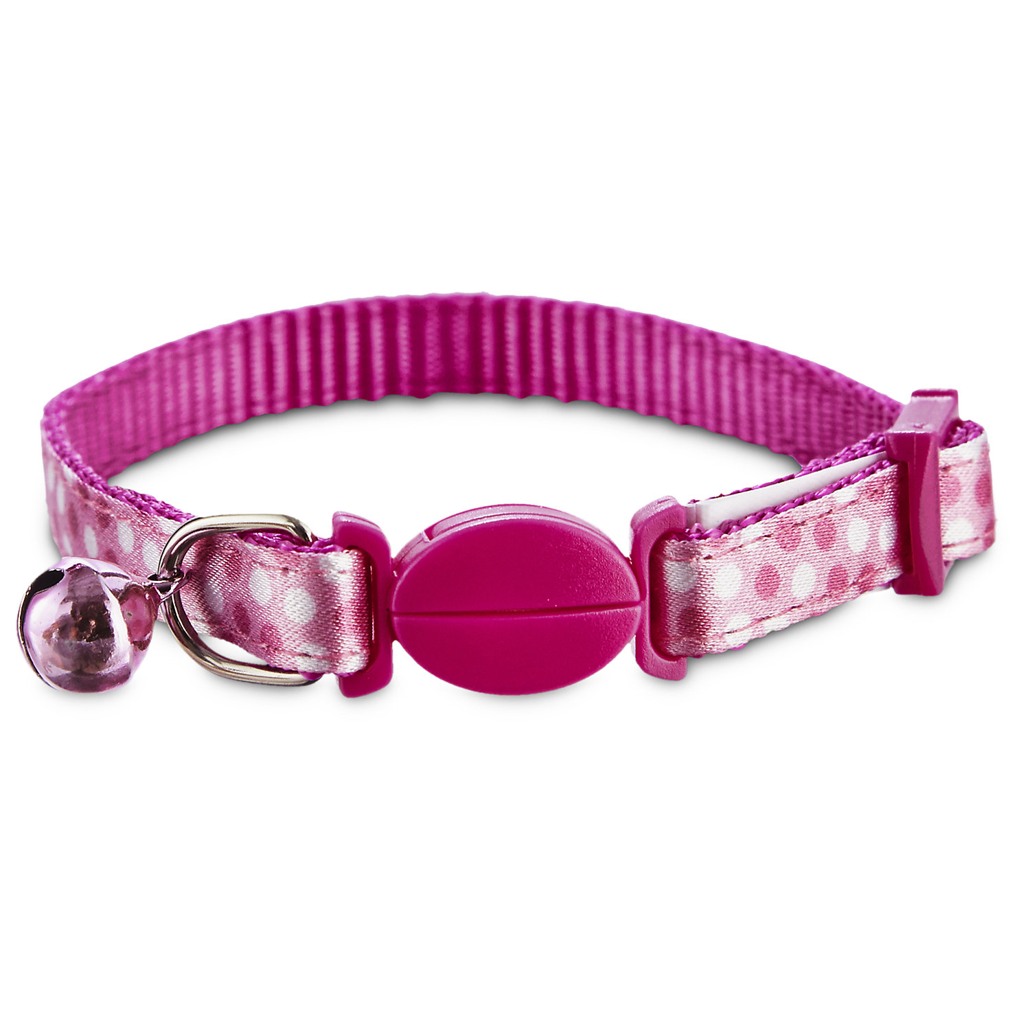 Bond & Co Dotty Print Kitten Collar, One Size Fits All, Pink