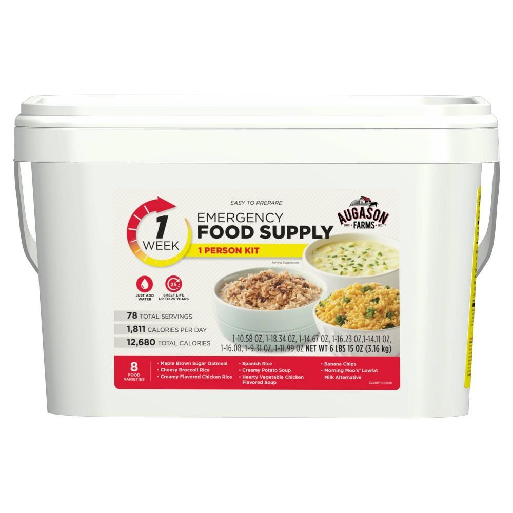 Augason Farms 1-Week 1-Person Emergency Food Supply Kit - 111oz Pail
